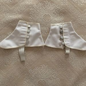 SPATS! Pair of white spats